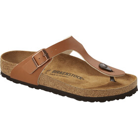 Birkenstock Gizeh Soft Footbed Flips Regular, marron